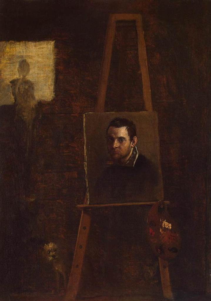 Self Portrait by Annibale Carracci (c.1604) oil on wood, The Hermitage, St. Petersburg