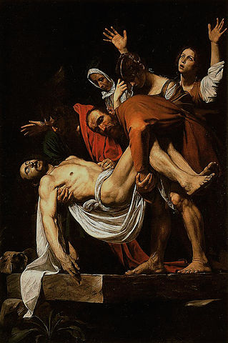 The Deposition of Christ (1603-4) by Caravaggio, oil on canvas, Vatican Museum, Rome