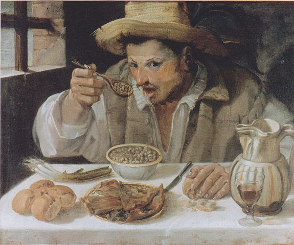 The Beaneater (1580-90) by Annibale Carracci, oil on panel, Galleria Colonna, Rome