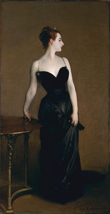 Madame X (Madame Pierre Gautreau) (1884) by John Singer Sargent, oil on canvas, Metropolitan Museum of Art, Manhattan