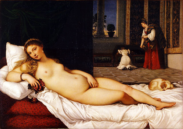 Venus of Urbino (1538) by Titian, oil on canvas, Galleria Uffizi, Florence