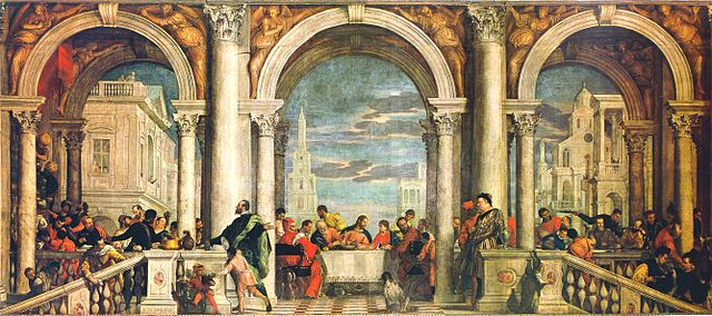 The Feast in the House of Levi (1573) by Paolo Veronese, oil on canvas, Galleria dell'Accademia, Venice
