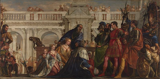 The Family of Darius before Alexander (1565-67) by Veronese, oil on canvas, National Gallery, London