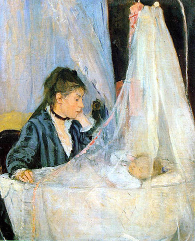 The Cradle (1872), Berthe Morisot, oil on canvas, Musée d'Orsay, Paris