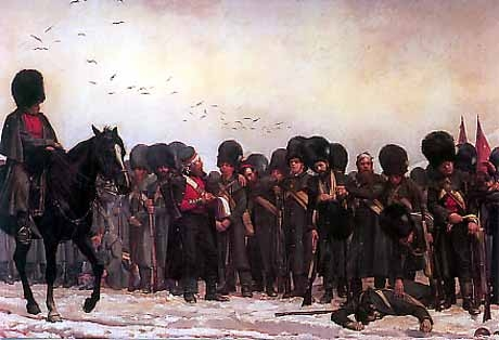 The Roll Call (1874), Elizabeth Thompson (Lady Butler), oil on canvas, Royal Collection, London