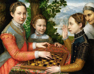 The Chess Game (1555), Sofonisba Anguissola, oil on canvas, National Museum, Poland