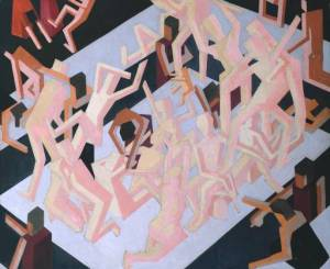 Vision of Ezekiel (1912) David Bomberg, oil on canvas, Tate Gallery, London