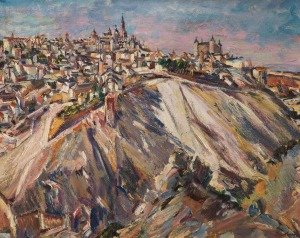 Toledo, Spain (1929) David Bomberg, oil on canvas, Gallery Oldham