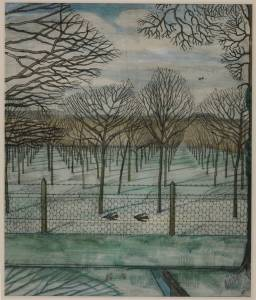 The Cherry Orchard (c.1914) Paul Nash, Watercolour, ink and graphite on paper, Tate Britain, London