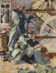 Soldiers of King Edward the Ready (1914) Walter Richard Sickert, oil on canvas, Museums Sheffield