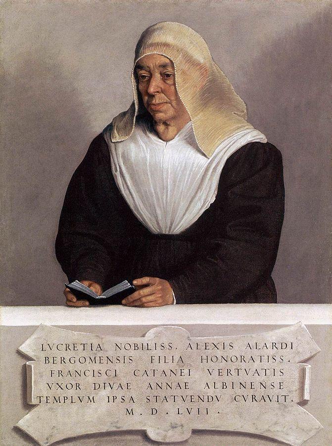 Portrait of Lucrezia Vertova Agliardi (155) oil on canvas, Metropolitan Museum of Art, New York.