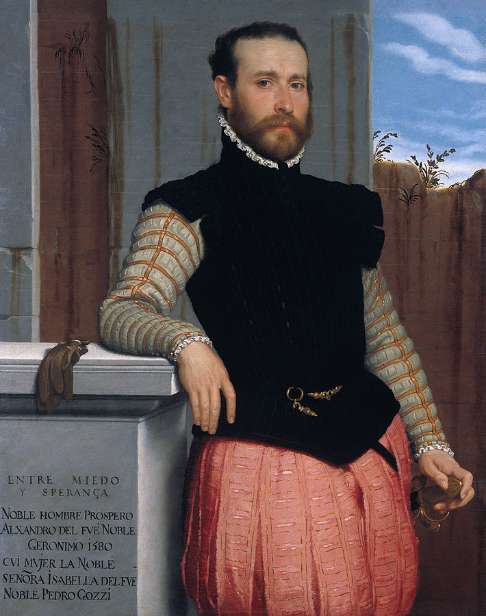 Portrait of Prospero Alessandri (c.1560) oil on canvas, The Princely Collections Vienna
