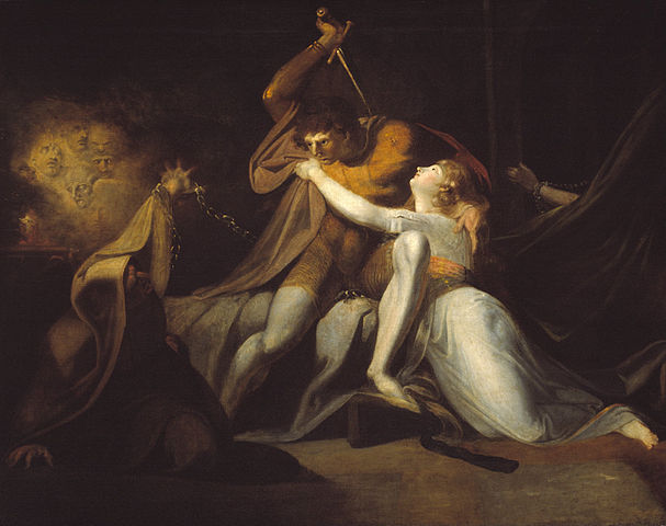 Percival Delivering Belisane from the Enchantment of Urma (1783) by Henry Fuseli, oil on canvas, Tate, London