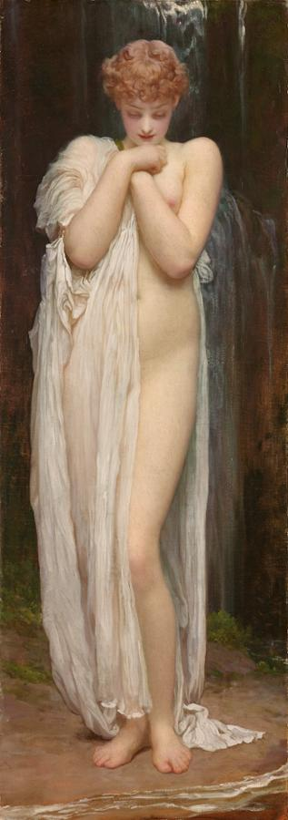 Crenaia, the Nymph of the Dargle (1881) by Frederic Leighton,
