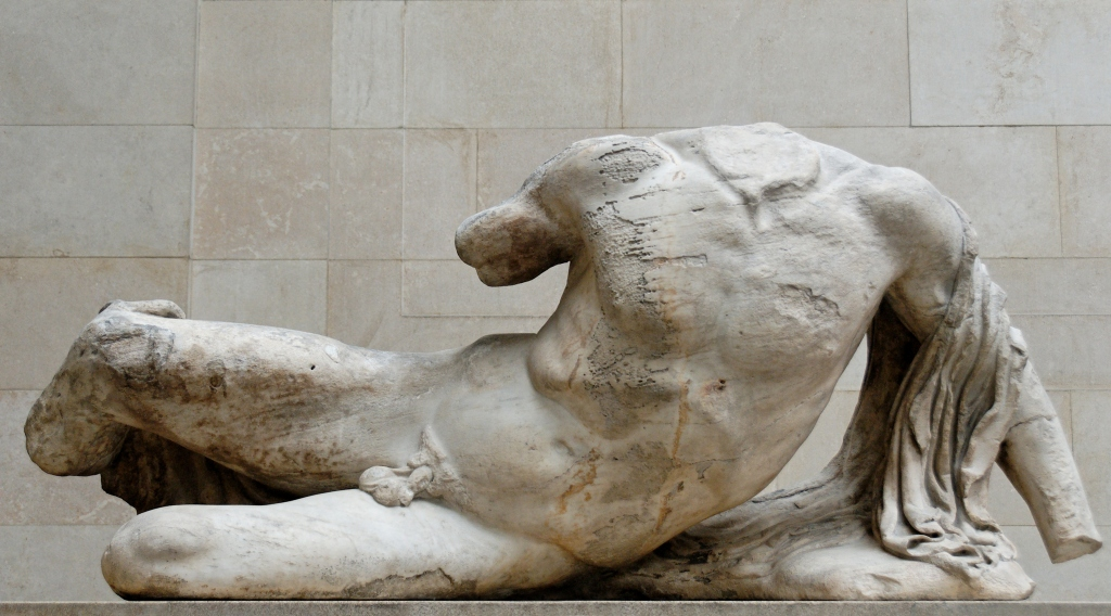 Ilissos - from the West pediment of the Parthenon (ca. 447–433 BC.), British Museum, London