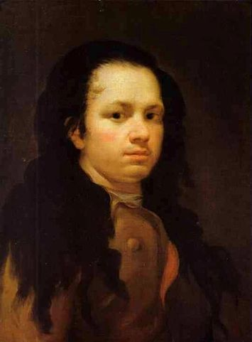 Self Portrait by Goya (c.1780), oil on canvas, Museo Goya, Colección Ibercaja, Zaragoza