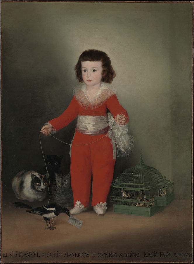Manuel Osorio Manrique de Zúñica (1787-88) by Goya, oil on canvas, Metropolitan Museum of Art, New York