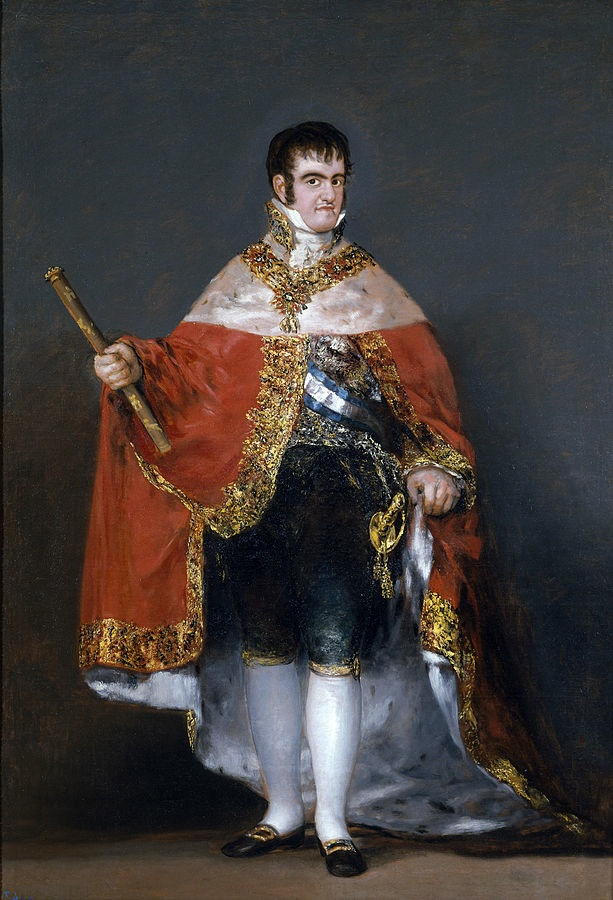 Ferdinand VII in Court Dress  (1814-15) by Goya, oil on canvas, Museo Nacional del Prado, Madrid