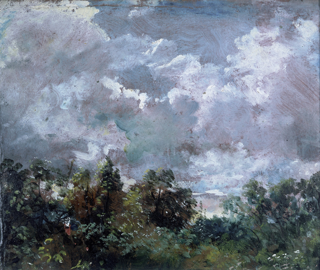 'Study of Sky and Trees' (c.1821) by John Constable, oil on paper, c.1821 ∏ The Victoria and Albert Museum, London
