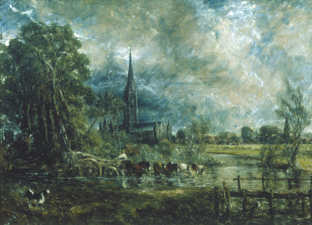 Salisbury Cathedral, Wiltshire, from the Meadows (1831) by John Constable, © Guildhall Art Gallery, City of London Corporation