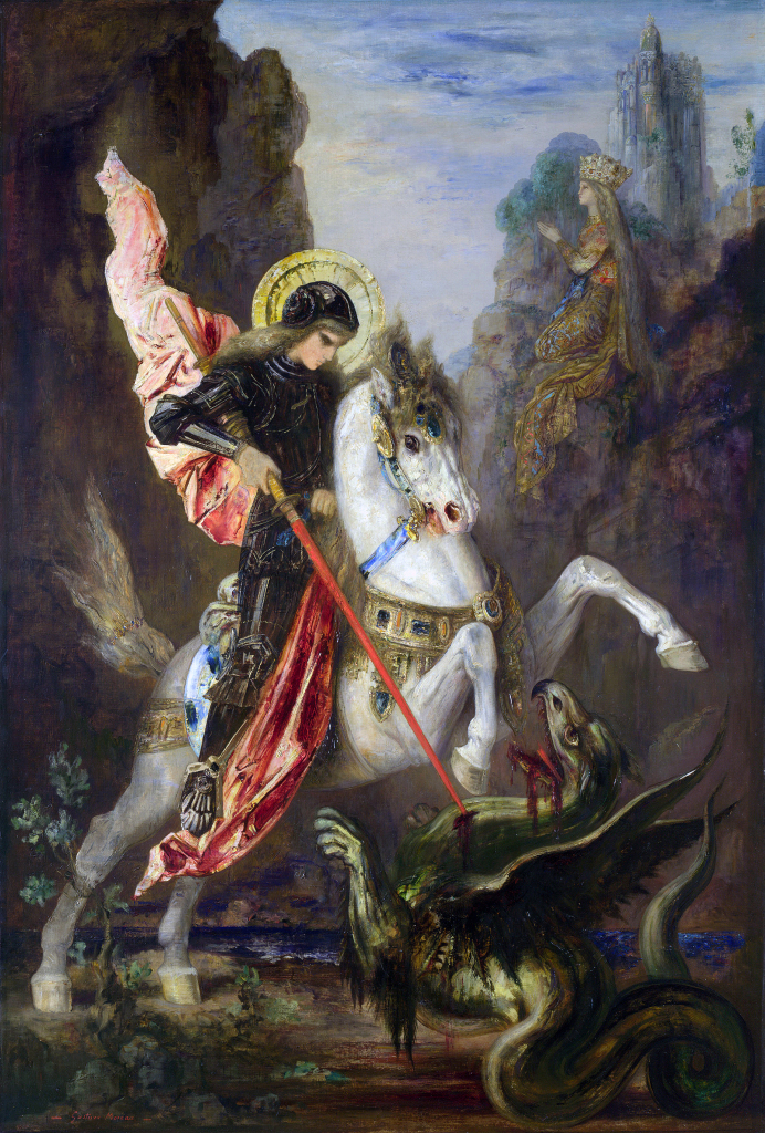Saint George and the Dragon (1889-90) by Gustave Moreau, oil on canvas, © The National