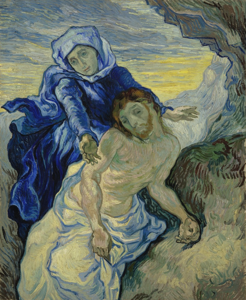 Pietà (after Delacroix) (1889) by Vincent Van Gogh, oil on canvas, Vincent Van Gogh Museum, Amsterdam (Vincent van Gogh Foundation)
