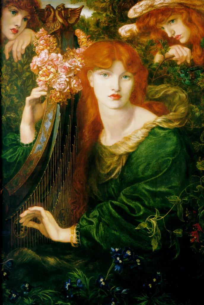 La Ghirlandata (1873) by Dante Gabriel Rossetti, oil on canvas, Guildhall Art Gallery, London
