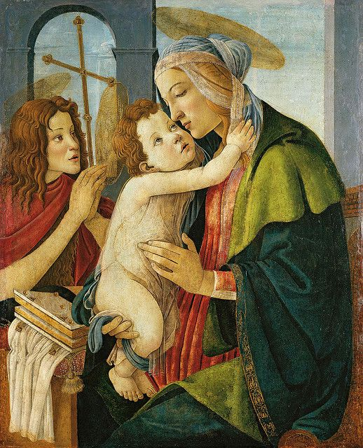 Virgin and Child with the Young St John the Baptist by the workshop of Sandro Botticelli (1480s), tempera on poplar, Städel Museum, Frankfurt
