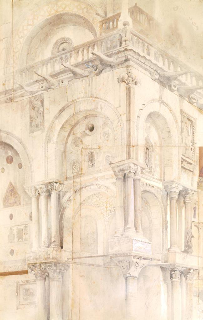 The North-West Angle of the Facade of St Mark's, Venice by John Ruskin (1819-1900), watercolour and graphite on paper, Tate, London