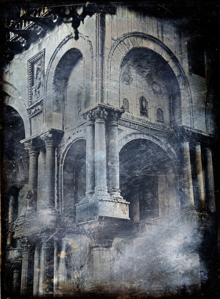 The North-West Angle of the Facade of St Mark's, Venice (c.1850–1852) by John Hobbs, daguerreotype, Ruskin Foundation (Ruskin Library, Lancaster University)