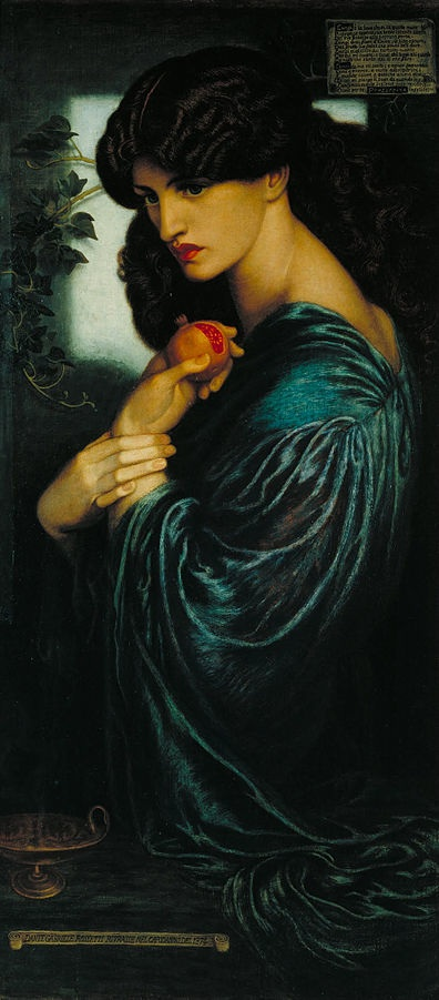 Proserpine (1874) by Dante Gabriel Rossetti, oil on canvas, Tate, London