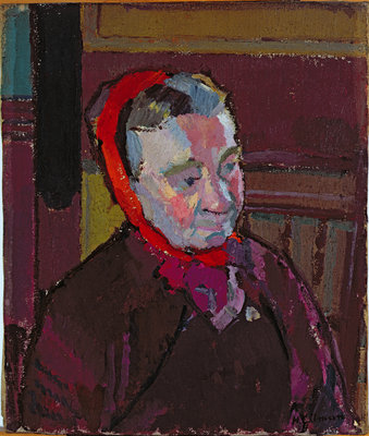 Mrs Mounter (1916-17) by Harold Gilman, oil on canvas, Leeds City Art Gallery