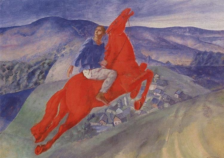 Fantasy (1925) by Kuzma Petrov-Vodkin, oil on canvas, © State Russian Museum, St Petersburg